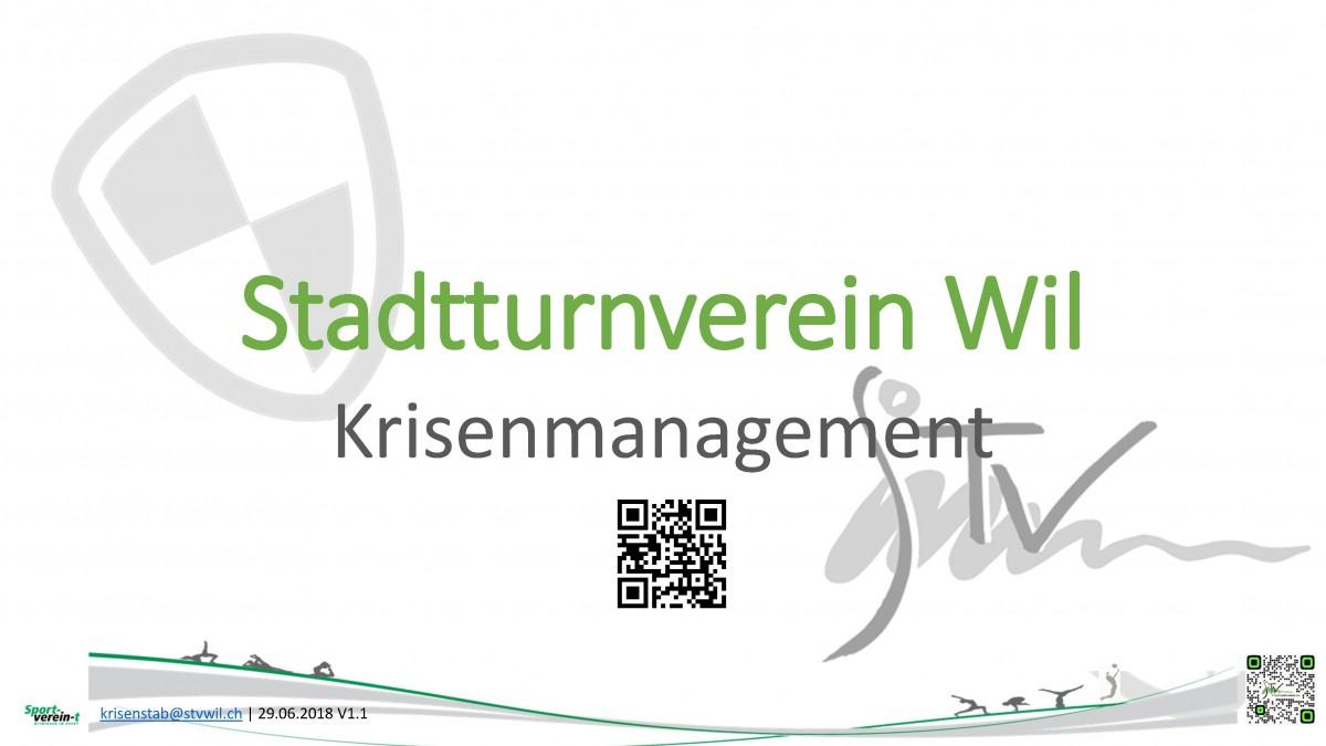 Titelseite Krisenmanagement STV Wil