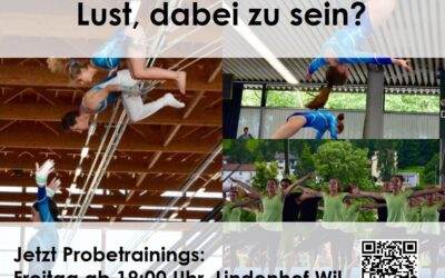 Schnuppertrainings Aktivriege